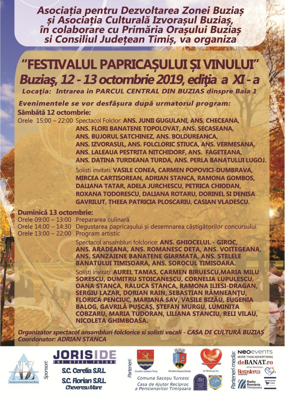 Festivalul Papricasului si vinului 2019