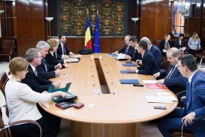 Premierul Sorin Grindeanu, întâlnire cu o delegație a consorțiului format din ExxonMobil şi OMV Petrom