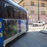 Traseul liniei 7, modificat și înlocuit pe o anumită porțiune cu autobuze