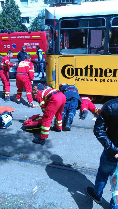 Tânără lovită de tramvai. Cum s-a întâmplat nenorocirea