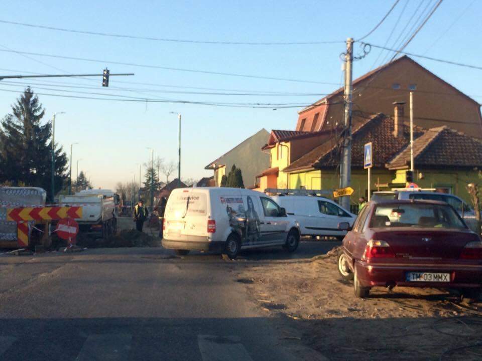 Se închide traficul rutier pe un sens în zona Calea Martirilor