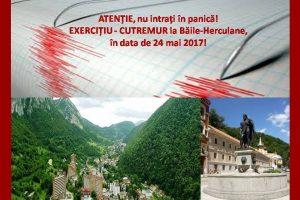 Atenție, nu intrați în panică! Exercițiu – cutremur la Băile Herculane