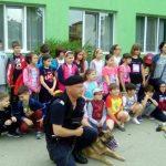 """Exerciţii demonstrative de dresură şi disciplină a câinilor Jandarmeriei pentru elevi, în cadrul Programului """"Şcoala altfel"""""""