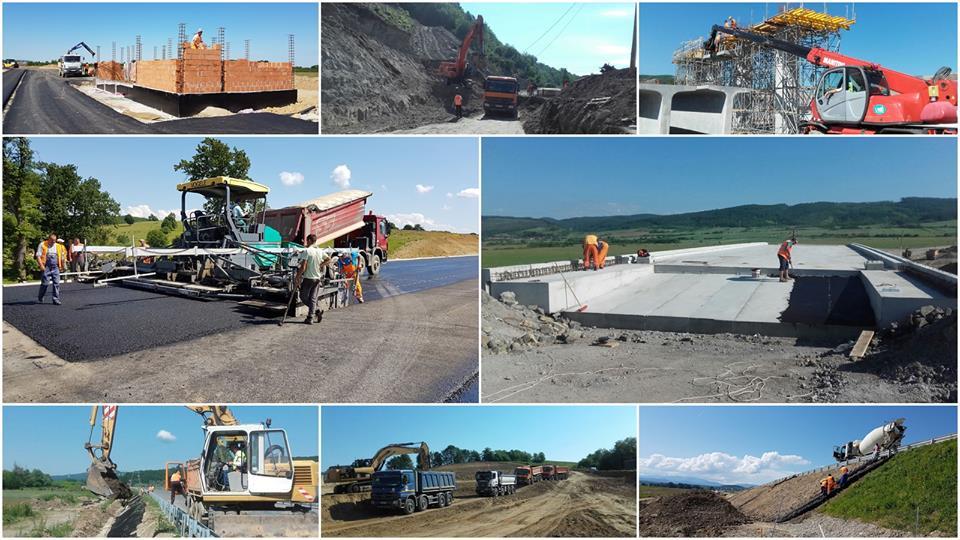 Cum decurg lucrările la șantierul autostrăzii Lugoj-Deva