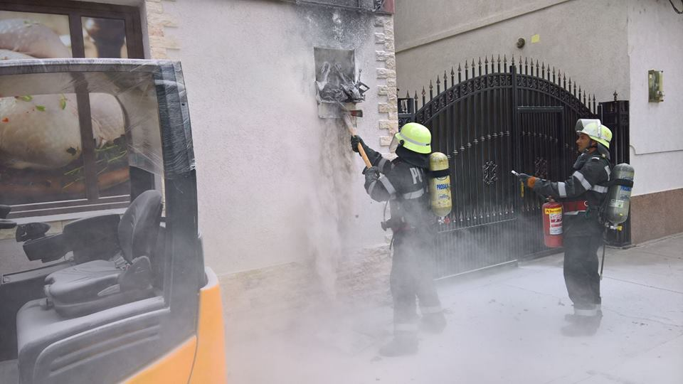 Incendiu la tabloul electric al unui magazin în Liebling