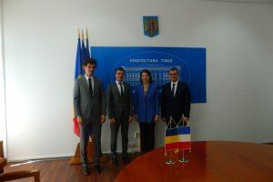Noul ambasador al Franţei, în vizită la Prefectură
