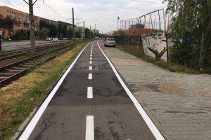 Noi piste de biciclete în Calea Buziașului