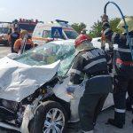 Accident lângă Albina. A fost necesară intervenţia celor de la Descarcerare