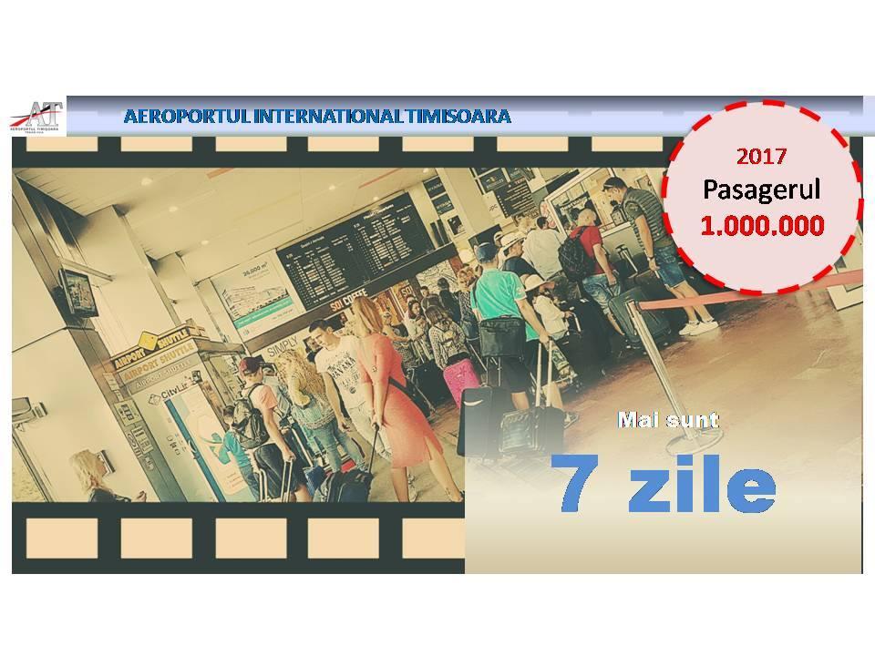 Aeroportul din Timișoara se apropie de cifra de un milion de pasageri în acest an