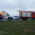 Microbuz cu opt persoane care se întorceau din Austria, răsturnat în apropiere de Sânnicolau Mare