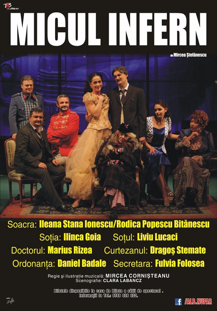 """Timişorenii pot vedea """"Micul infern"""", spectacolul ce o va readuce în urbe, după multă vreme, pe venerabila actriță Ileana Stana Ionescu"""