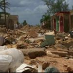 Peisajul sumbru lăsat în urmă de uraganul Irma. Pagubele sunt însemnate