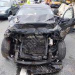 Accident cu patru maşini pe o şosea din Banat