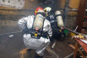 Incendiu la un subsol din Timişoara