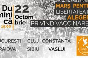 Protest pentru libertatea de alegere privind vaccinarea