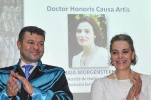 Maia Morgenstern, Doctor Honoris Causa Artis al Universității de Vest