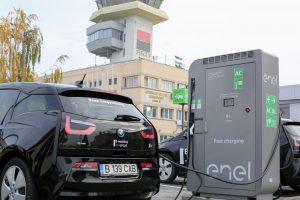 Aeroportul Timișoara are prima stație de încărcare pentru mașini electrice
