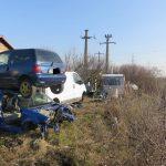 Foto: Razie printre firmele de dezmembrări auto! Ce dezastru au găsit polițiștii locali la Timișoara