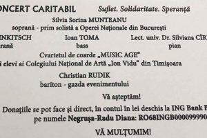 Concert caritabil la Casa de Cultură a Studenților din Timișoara