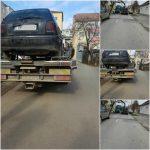 Paisprezece autovehicule abandonate, ridicate de polițiștii locali și reprezentanții SDM