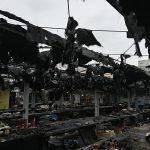 Incendiu devastator în piața agroalimentară din Arad