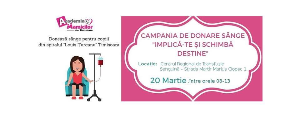 """Campania """"Implică-te şi schimbă destine"""" pentru copiii de la Spitalul Louis Țurcanu"""