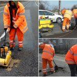 Au apărut gropile din asfalt după topirea zăpezii