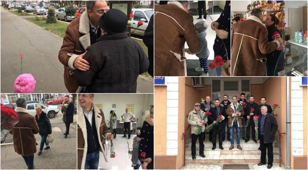 Politicienii din Buziaș au adus primăvara în sufletul femeilor