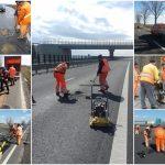 Reparaţii provizorii pe drumurile din vestul ţării