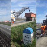 FOTO. Au început lucrările de reparații la drumurile județene