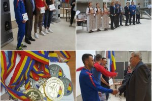 Campionii la canotaj, premiați de autoritățile județene din Timiș