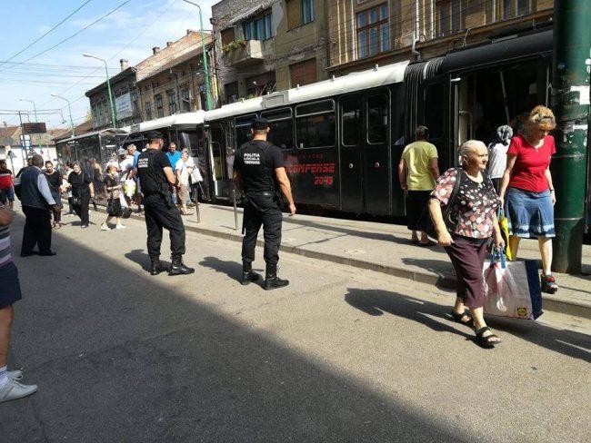 Bărbat prins după ce a jefuit călătorii în tramvai la Timișoara