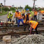 Se lucrează de zor la trecerea la nivel cu calea ferată din Giarmata