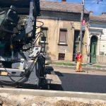 Drumarii intervin pe mai multe străzi și trotuare din Timișoara