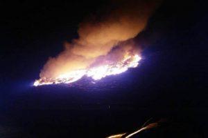 Incendiu puternic la rampa de gunoi a Aradului