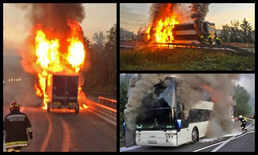 Un autocar românesc a explodat, pe o autostradă din Austria