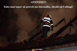 Avertismentul pompierilor timişeni