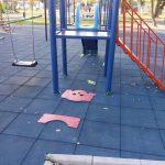 FOTO. Parcul de la Șag, din nou vandalizat