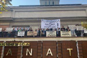 Protest spontan al artiștilor de la Filarmonica Banatul