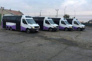 Transport școlar gratuit pentru elevii a patru licee
