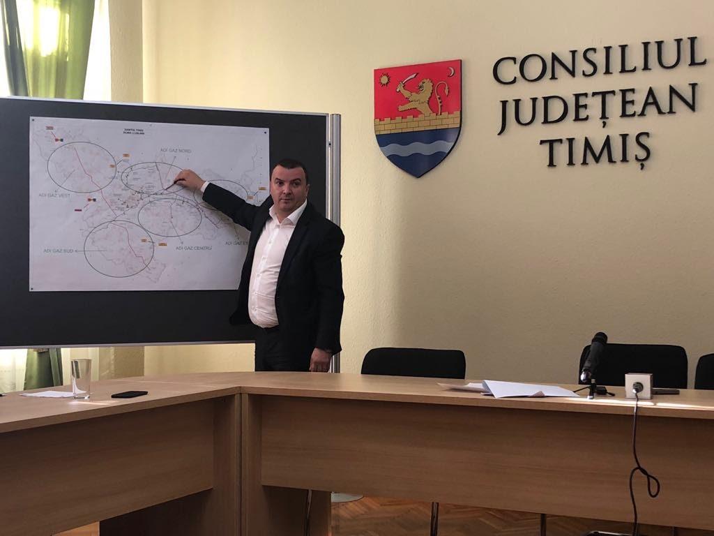 Consiliul Județean Timiș s-a asociat cu 70 de primării pentru introducerea gazelor naturale în județ