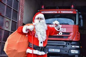 Moş Crăciun a venit la pompierii timişeni