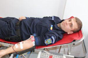 Jandarmii timișoreni au donat sânge