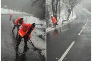 Cod portocaliu de inundații în Arad. Drumarii intervin în judeţ