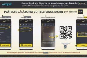 S.T.P.T. vă reaminteşte că puteţi plăti biletul cu telefonul