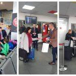 """Mărțișoare pentru pasagerele Aeroportului """"Traian Vuia"""" din Timișoara"""