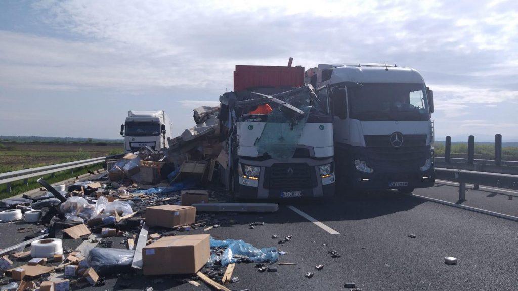 Accident pe autostrada Lugoj-Timişoara. Traficul a fost blocat