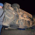 Două microbuze s-au ciocnit în judeţul Arad
