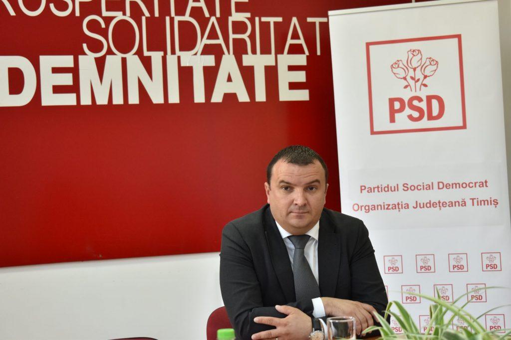 Călin Dobra și-a dat demisia din funcția de președinte al PSD Timiș