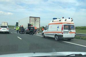 Atenție, şoferi! Circulație îngreunată pe Autostrada A1 în urma unui accident
